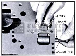 1951 Buick Removing Low Band Operating Lever and Shaft