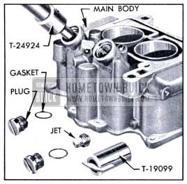 1951 Buick Removing Plug and Main Metering Jet