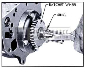 1951 Buick Removing Ratchet Wheel Retaining Ring