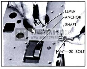 1951 Buick Removing Reverse Band Operating Lever and Shaft