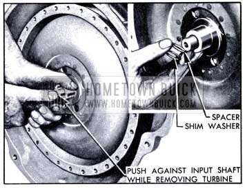1951 Buick Removing Shim Washers, Spacer and Turbine