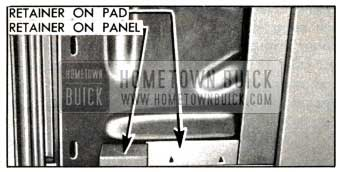 1951 Buick Retainers at Lower Edge of Door Trim Pad