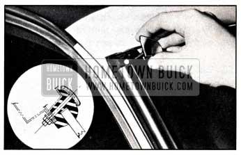 1951 Buick Reveal Molding Corner Escutcheon
