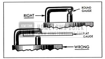 1951 Buick Right and Wrong Spark Plug Gauges