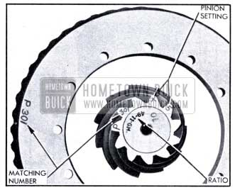 1951 Buick Ring and Pinion Gear Markings