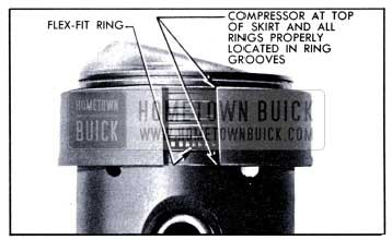 1951 Buick Rings Held in Place by Compressor