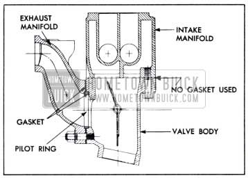 1951 Buick Sectional View of Joints Between Valve Body and Manifolds