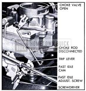 1951 Buick Setting Carter Fast Idle-Carburetor on Engine