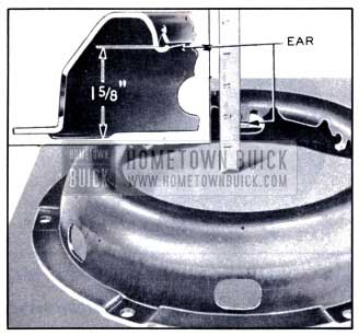 1951 Buick Setting of Spring Retainer Ears on Clutch Cover
