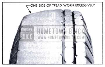1951 Buick Side or Camber Tread Wear