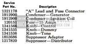 1951 Buick Sonomatic Radio Installation Parts
