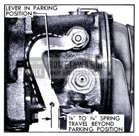 1951 Buick Spring Travel at Shift Lever