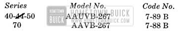 1951 Buick Stromberg Carburetor Identifcation Numbers