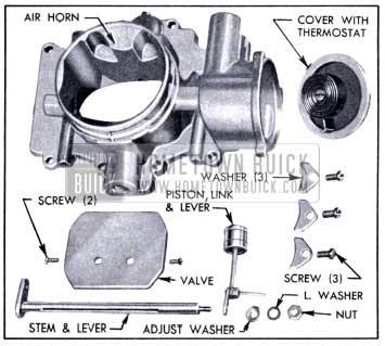 1951 Buick Stromberg Choke Control Parts