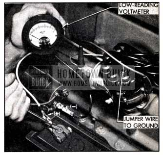 1951 Buick Testing Battery Cables and Connections with Voltmeter