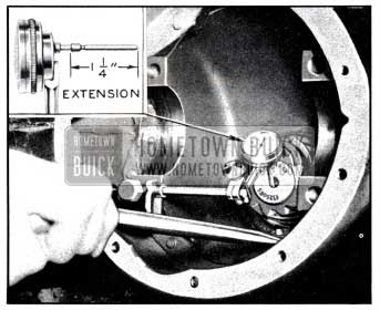 1951 Buick Testing Pinion Bearing Wear