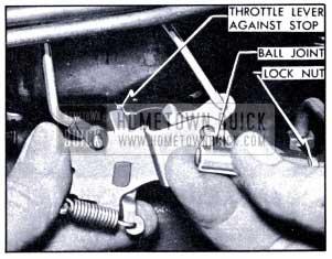 1951 Buick Throttle Rod Adjustment-Synchromesh