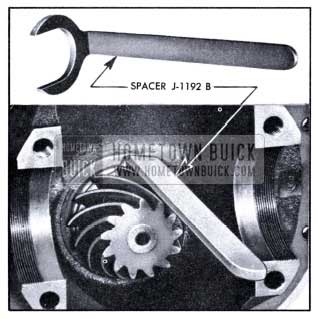 1951 Buick Use of Pinion Bearing Spacer J 1192-B