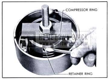 1951 Buick Using Clutch Spring Compressor J 2590