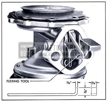 1951 Buick Vacuum Diaphragm Flexing Tool in Place