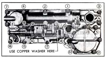 1951 Buick Valve and Servo Body Bolt Tightening Sequence