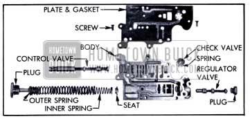 1951 Buick Valve Body Disassembled