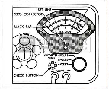 1951 Buick Voltmeter Calibration-Sun Model CB