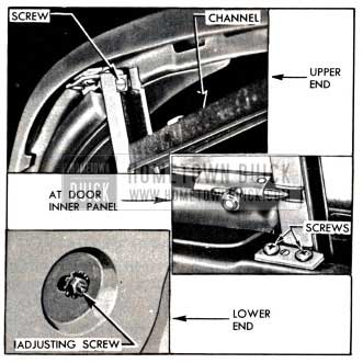 1951 Buick Window Division Channel Attachments
