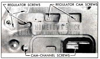 1951 Buick Window Regulator and Cam Attaching Screws