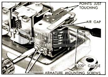 1952 Buick Adjustment of Cutout Relay Air Gap