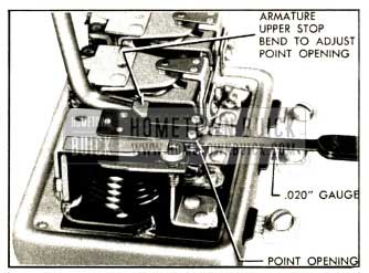 1952 Buick Adjustment of Cutout Relay Contact Point Opening