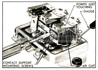 1952 Buick Adjustment of Voltage Regulator Air Gap