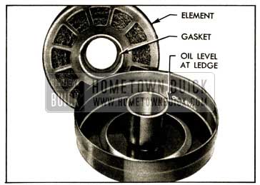 1952 Buick Air Cleaner Element and Sump