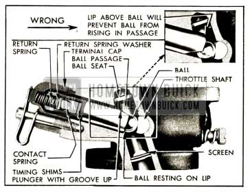 1952 Buick Assembly of Carter Accelerator Vacuum Switch