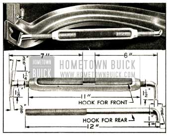 1952 Buick Bending Hood Panel Reinforcement to Reduce Hood Width