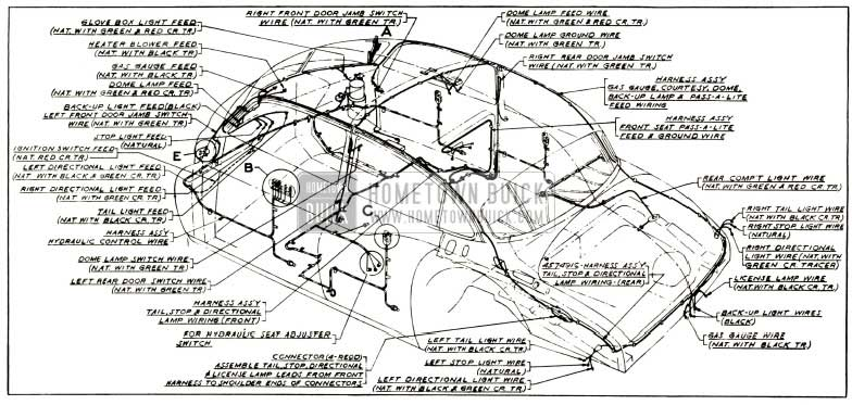 1952 Buick Body and Hydro-Lectric Wiring Circuit Diagram-Models 52, 72R-Styles 4519X, 4719X