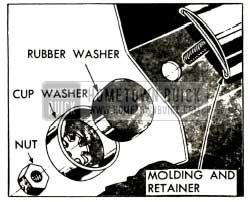 1952 Buick Bolt Type Belt Molding Retainer