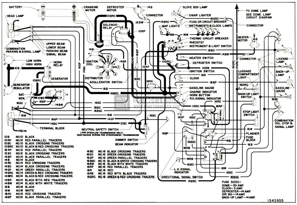Buick Chassis Wiring Circuit Diagram Series With Direction Signals on 1999 Buick Lesabre Fuse Diagram