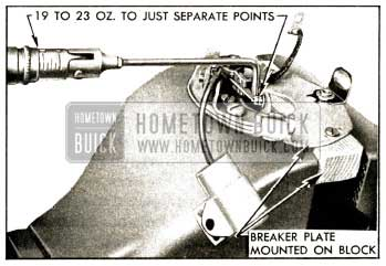 1952 Buick Checking Breaker Arm Spring Tension