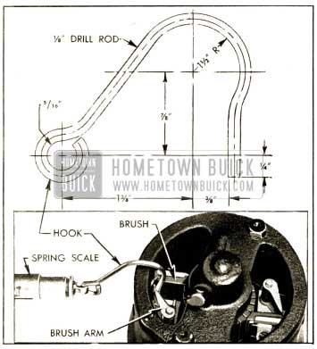 1952 Buick Checking Brush Spring Tension