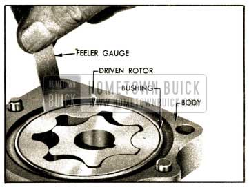 1952 Buick Checking Clearance Between Driven Rotor and Bushing