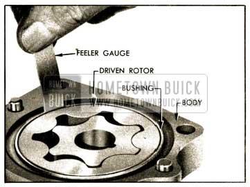 1952 Buick Checking Clearance Between Driven Rotor and Bushing