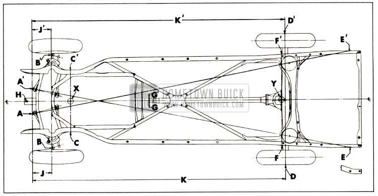 1952 Buick Checking Points for Frame and Suspension Alignment