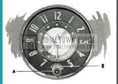 1952 Buick Clock
