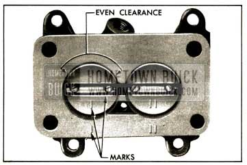 1952 Buick Correct Position of Throttle Valves