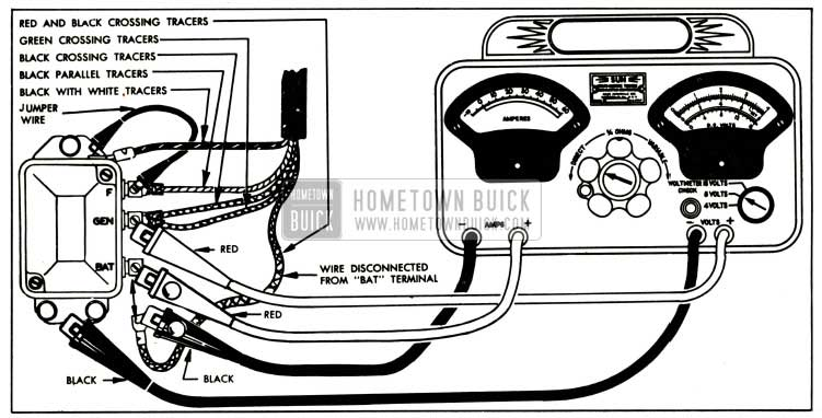 1952 Buick Cutout Relay Test Connections-Sun Volts