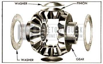1952 Buick Differential Side Gears, Pinions, and Thrust Washers