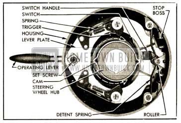 1952 Buick Direction Signal Switch in Off Position
