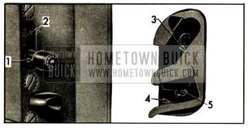 1952 Buick Door Lock and Striker