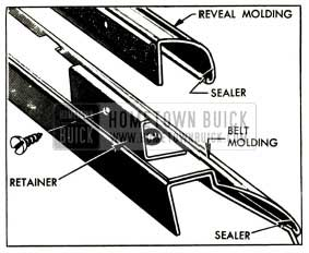 1952 Buick Door Lower Reveal and Belt Molding Attachments